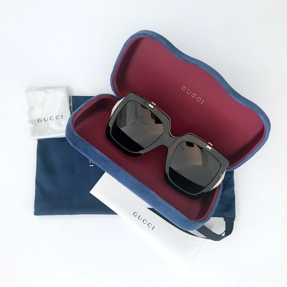 ecb4153219 GUCCI Flip Up GG 0088S Havana Sunglasses Oversized